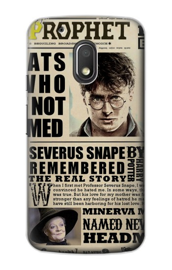 Printed Harry Potter Daily Prophet Motorola Droid Turbo 2 / X Force Case
