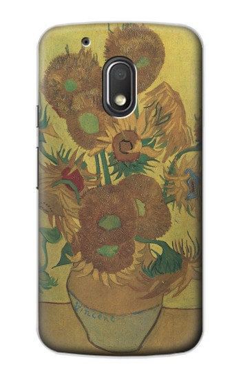 Printed Van Gogh Vase Fifteen Sunflowers Motorola Droid Turbo 2 / X Force Case
