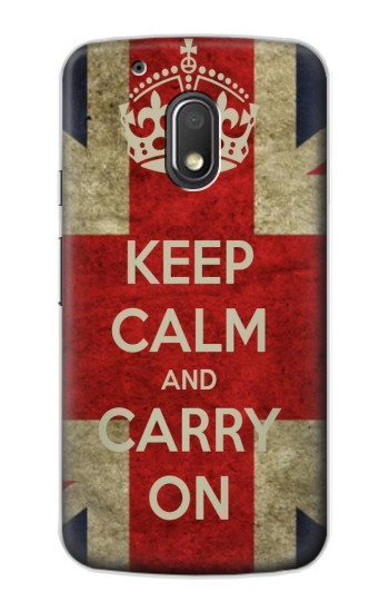 Printed Keep Calm and Carry On Motorola Droid Turbo 2 / X Force Case