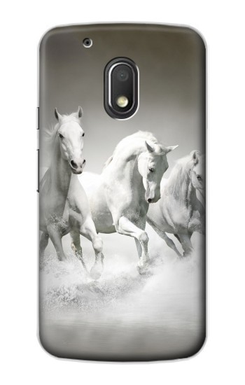 Printed White Horses Motorola Droid Turbo 2 / X Force Case