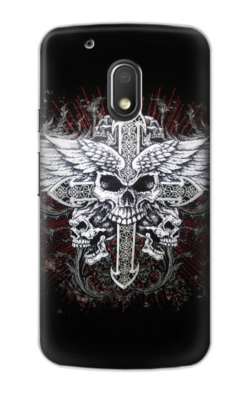 Printed Skull Wing Tattoo Biker Motorola Droid Turbo 2 / X Force Case