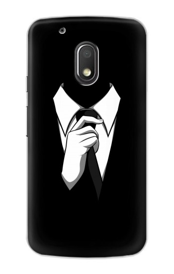 Printed Anonymous Man in Black Suit Motorola Droid Turbo 2 / X Force Case