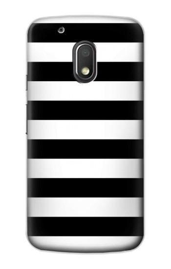 Printed Black and White Striped Motorola Droid Turbo 2 / X Force Case