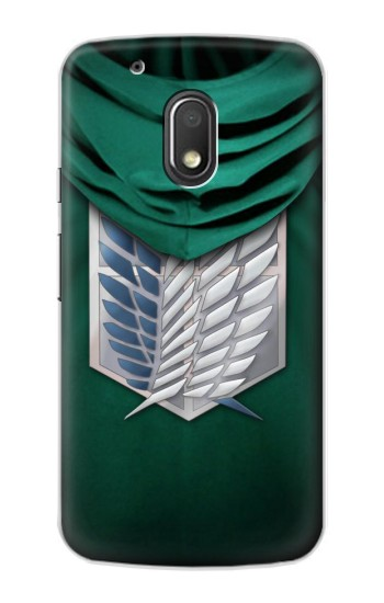 Printed Attack on Titan Scouting Legion Rivaille Green Cloak Motorola Droid Turbo 2 / X Force Case