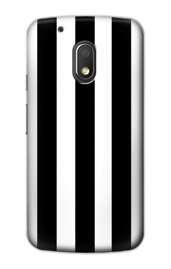 Printed Black and White Vertical Stripes Motorola Droid Turbo 2 / X Force Case