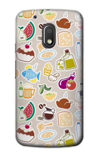 Printed Food and Drink Seamless Motorola Droid Turbo 2 / X Force Case
