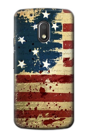 Printed Old American Flag Motorola Droid Turbo 2 / X Force Case