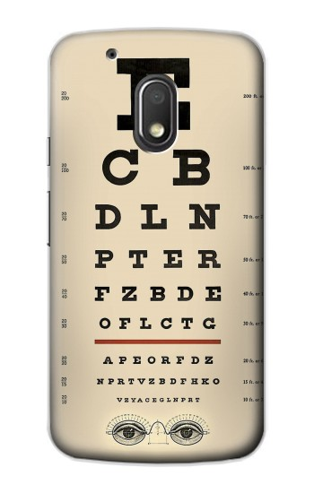 Printed Eye Exam Chart Decorative Decoupage Poster Motorola Droid Turbo 2 / X Force Case