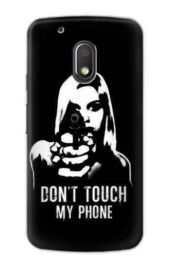 Printed Girl Do Not Touch My Phone Motorola Droid Turbo 2 / X Force Case