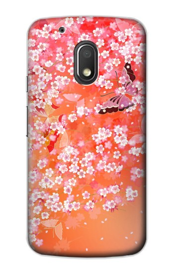 Printed Japanese Style Flower Pattern Motorola Droid Turbo 2 / X Force Case
