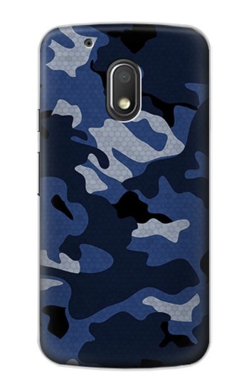 Printed Navy Blue Camouflage Motorola Droid Turbo 2 / X Force Case