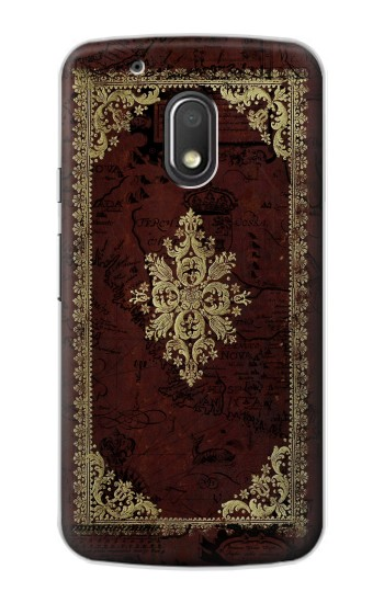 Printed Vintage Map Book Cover Motorola Droid Turbo 2 / X Force Case