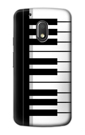 Printed Black and White Piano Keyboard Motorola Droid Turbo 2 / X Force Case