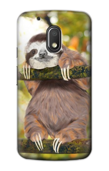 Printed Cute Baby Sloth Paint Motorola Droid Turbo 2 / X Force Case