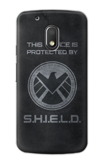 Printed This Device is Protected by Shield Motorola Droid Turbo 2 / X Force Case