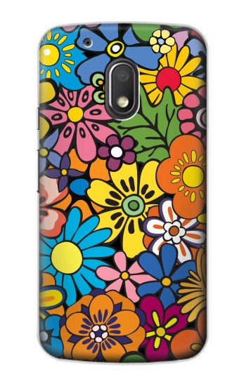 Printed Colorful Flowers Pattern Motorola Droid Turbo 2 / X Force Case