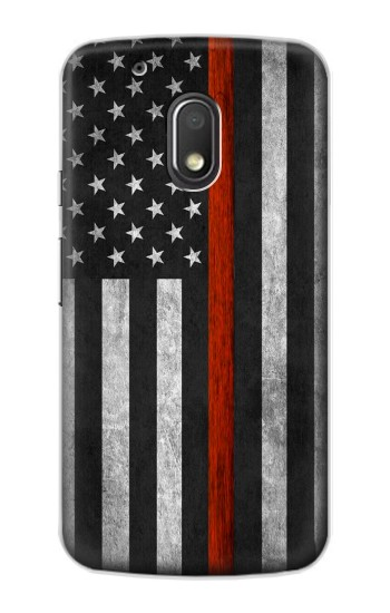 Printed Firefighter Thin Red Line Flag Motorola Droid Turbo 2 / X Force Case