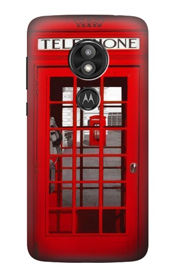 Printed Classic British Red Telephone Box Motorola Moto E5 Play Case