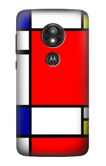 Printed Composition Red Blue Yellow Motorola Moto E5 Play Case
