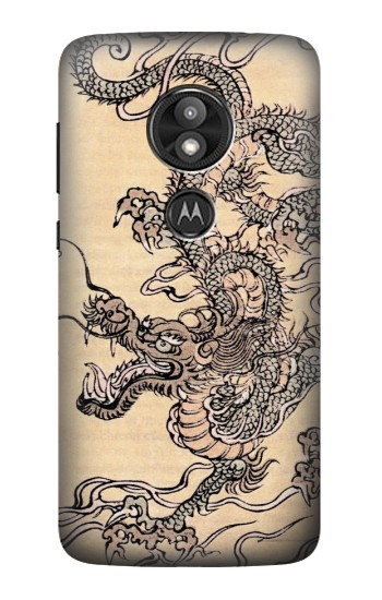 Printed Antique Dragon Motorola Moto E5 Play Case