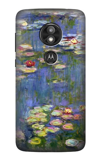 Printed Claude Monet Water Lilies Motorola Moto E5 Play Case