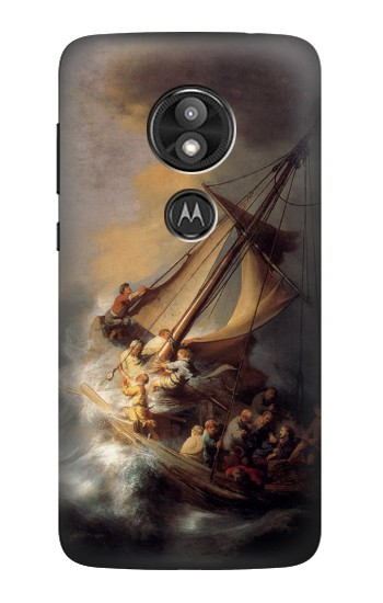 Printed Rembrandt Christ in The Storm Motorola Moto E5 Play Case