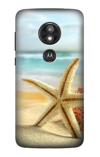 Printed Starfish on the Beach Motorola Moto E5 Play Case