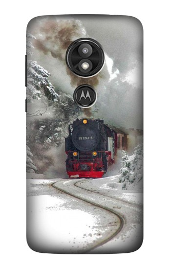 Printed Steam Train Motorola Moto E5 Play Case