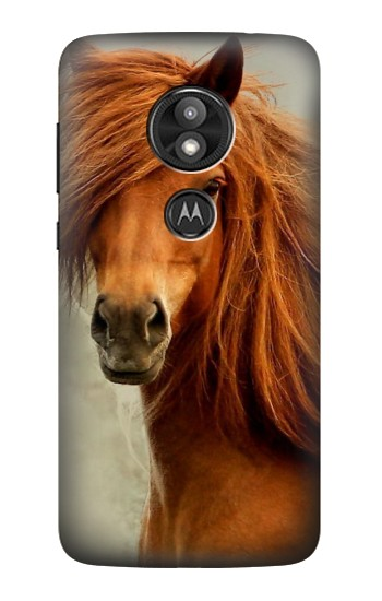 Printed Beautiful Brown Horse Motorola Moto E5 Play Case