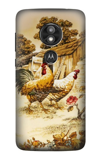 Printed French Country Chicken Motorola Moto E5 Play Case