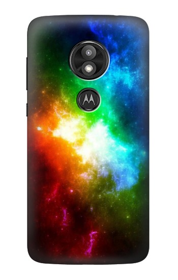 Printed Colorful Rainbow Space Galaxy Motorola Moto E5 Play Case