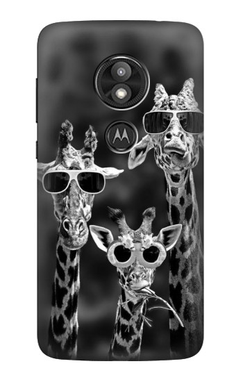 Printed Giraffes With Sunglasses Motorola Moto E5 Play Case