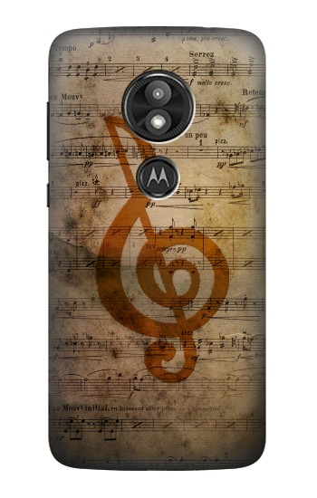 Printed Sheet Music Notes Motorola Moto E5 Play Case