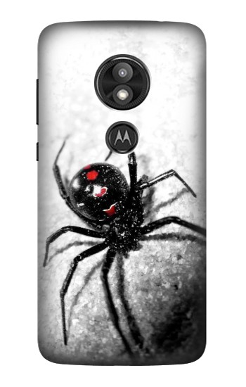 Printed Black Widow Spider Motorola Moto E5 Play Case