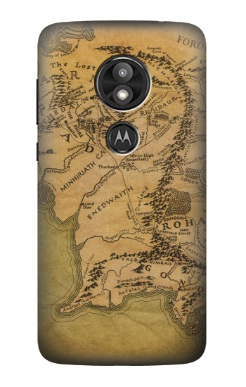 Printed The Lord Of The Rings Middle Earth Map Motorola Moto E5 Play Case