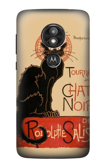 Printed Chat Noir The Black Cat Motorola Moto E5 Play Case