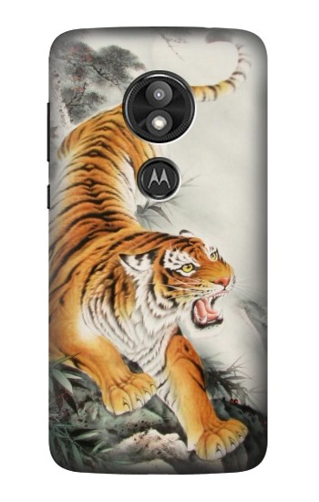 Printed Chinese Tiger Tattoo Painting Motorola Moto E5 Play Case