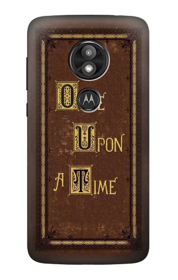 Printed Once Upon a Time Book Cover Motorola Moto E5 Play Case