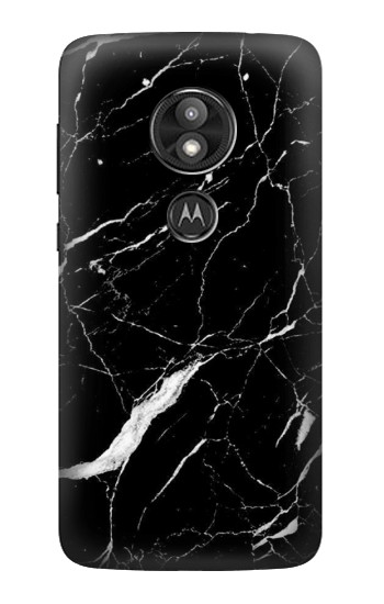 Printed Black Marble Graphic Printed Motorola Moto E5 Play Case