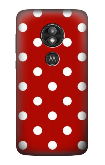 Printed Red Polka Dots Motorola Moto E5 Play Case