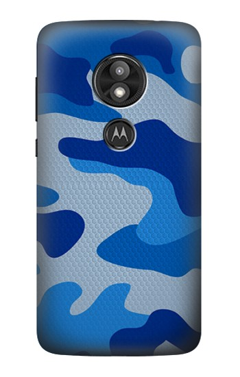 Printed Army Blue Camouflage Motorola Moto E5 Play Case