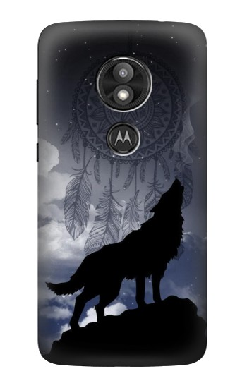 Printed Dream Catcher Wolf Howling Motorola Moto E5 Play Case