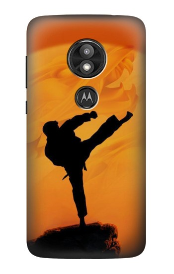 Printed Kung Fu Karate Fighter Motorola Moto E5 Play Case