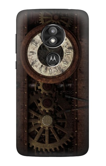 Printed Steampunk Clock Gears Motorola Moto E5 Play Case