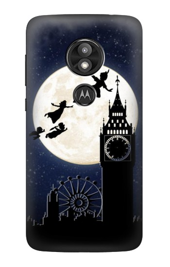 Printed Peter Pan Fly Fullmoon Night Motorola Moto E5 Play Case