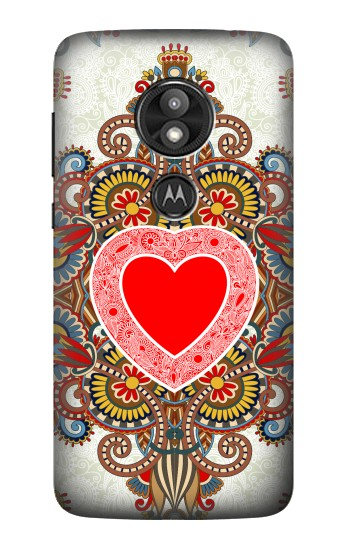 Printed Heart Pattern Line Art Motorola Moto E5 Play Case