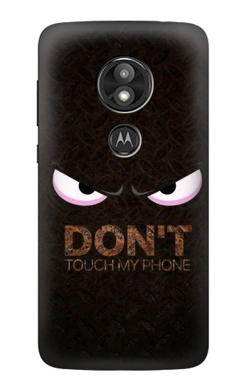 Printed Do Not Touch My Phone Motorola Moto E5 Play Case