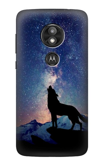 Printed Wolf Howling Million Star Motorola Moto E5 Play Case