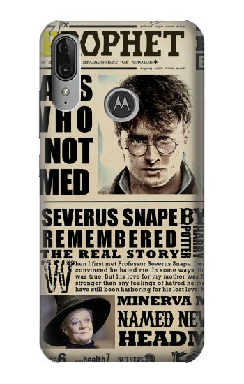 Printed Harry Potter Daily Prophet Motorola Moto E6 Plus Case