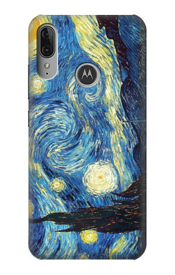 Printed Van Gogh Starry Nights Motorola Moto E6 Plus Case